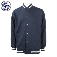 Order snap button-straight sleeve baseball jacket/personal design baseball jacket/baseball coat factory