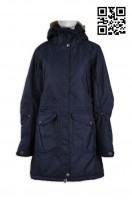 Design fashionable long coat custom made fashion windbreakers overcoat supplier