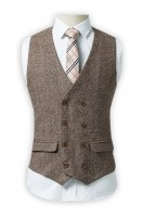 Order casual suit vest Double-breasted Slim fit England retro waistcoat Vest coat franchise
