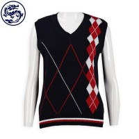 custom jacquard knit cold vest 2/32 cotton 283G cold vest manufacturer