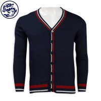 Design Contrast Collar Cardigan Jacket 2/32 50% Wool 50% Acrylic 399g Cold Jacket Manufacturer