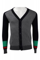 Customized Contrast Sleeve Cardigan Cold Jacket 2/32s100% Cotton 305G Cold Jacket Manufacturer