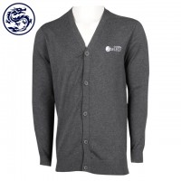 Custom Men's V-Neck Cardigan Jacket 70% Cotton 30% Nylon Cold Jacket Manufacturer