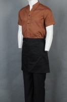 Make brown short-sleeved chef uniforms