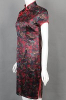 Customized printed cheongsam catering uniform