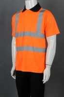 Manufacturing industrial uniforms with orange bump black collar POLO shirt