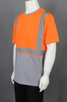 Manufacturing industrial uniforms with round neck and short sleeves