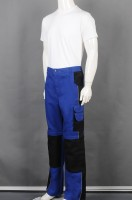 Customized blue stitching trousers industrial uniform