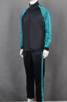 Custom-made black and green long-sleeved suit group uniform