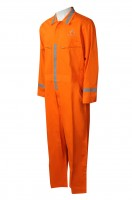 Industrial uniform for manufacturing jumpsuits