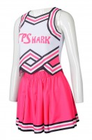 Design printed LOGO pleated skirt cheerleading suit